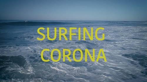 Surfing Corona documentary title image