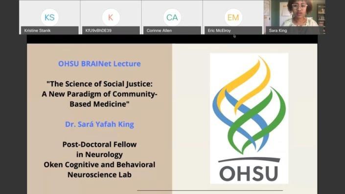 Screenshot of presentation